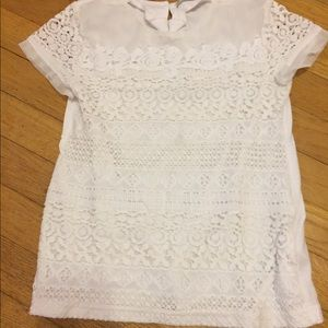 Tops - Kids elegant white top with lace